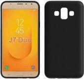 Samsung Galaxy J7 Duo (J720) Yumuşak İnce Silikon Arka Kılıf Siya-2