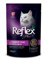 Reflex Plus Kuzulu ve Ciğerli Pouch Kedi Konservesi 100 gr