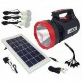 Everton Rt-906 Radyolu Usb Girişli Solar Işıldak Fener Projektör