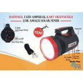 Everton Rt-906 Radyolu Usb Girişli Solar Işıldak Fener Projektör-2