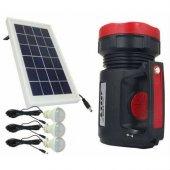 Everton Rt-906 Radyolu Usb Girişli Solar Işıldak Fener Projektör-4