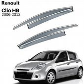 Renault Clio Symbol Krom Çıtalı Cam Rüzgarlığı 2008-2012