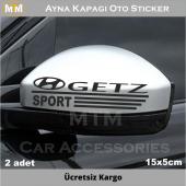 Hyundai Getz Ayna Kapağı Oto Sticker (2 Adet)