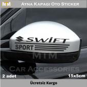 Suzuki Swift Ayna Kapağı Oto Sticker (2 Adet)
