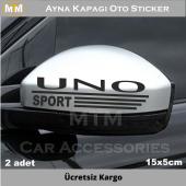 Fiat Uno Ayna Kapağı Oto Sticker (2 Adet)