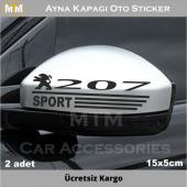 Peugeot 207 Ayna Kapağı Oto Sticker (2 Adet)