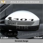 Peugeot 301 Ayna Kapağı Oto Sticker (2 Adet)
