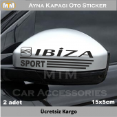 Seat Ibiza Ayna Kapağı Oto Sticker (2 Adet)