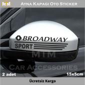 Renault Broadway Ayna Kapağı Oto Sticker (2 Adet)