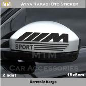 Bmw M Ayna Kapağı Oto Sticker (2 Adet)