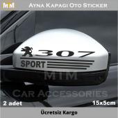 Peugeot 307 Ayna Kapağı Oto Sticker (2 Adet)