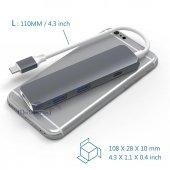 USB C 3.1 HDMI USBx2+Şarj Thunderbolt 3 Yeni MacBook Pro Touchbar-5