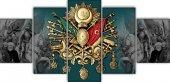 Fatih Han & Osmanlı Arması 5 Parça Kanvas Tablo