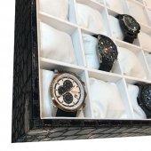 30lu Saat Tablası Kroko Siyah-3