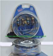 5 Metre Rca 2 Giriş+ 2 Çıkış 1. Kalite Pro İpek Kablo