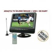 Tastech 9.5 İnç Araç Lcd Monitör Tv+usb+av İn+sd Kart