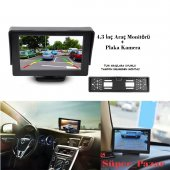 Audiomax 4.3 İnç Araç Monitör + Gece Görüşlü Geri Vites Kamera
