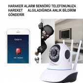 HD 360º Wifi İp Kamera Gece Görüş Güvenlik ve Bebek İzleme Kamera-2
