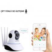 HD 360º Wifi İp Kamera Gece Görüş Güvenlik ve Bebek İzleme Kamera-4
