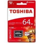 Toshiba 64 Gb MicroSd hafıza kartı Uhs-1 C10 Thn-M302R0640Ea
