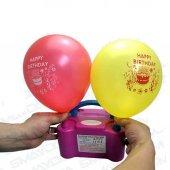 Çift Çıkışlı Elektrikli Balon Şişirme Pompası + 100 ADET BALON-2