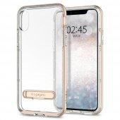 Iphone X Kılıf, Spigen Crystal Hybrid Glitter Gold Quartz
