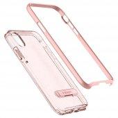 iPhone X Kılıf, Spigen Crystal Hybrid Glitter Rose Quartz-6