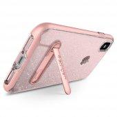 iPhone X Kılıf, Spigen Crystal Hybrid Glitter Rose Quartz-7