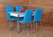 4 Kişilik Masa Sandalye Takımı Mutfak Masası Yemek...