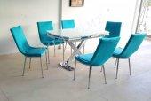 6 Kişilik Masa Sandalye Takımı X Ayak Açılır...