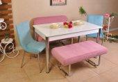 Taytüyü Kumaş Banklı Mutfak Masası 6 Kişilik...