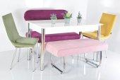 6 Kişilik Mutfak Masası Taytüyü Bank Takımı Masa S...