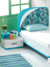 Komodin, Tiffany Genç Odası (Mavi) Komodin