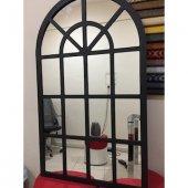 Metal Pencere Ayna (Siyah)