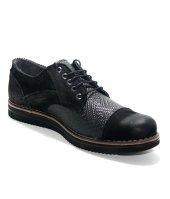 Uskar Club 02102 Siyah Erkek Deri Ayakkabı