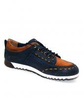 Uskar Club 00230 Lacivert Taba Erkek Deri Ayakkabı