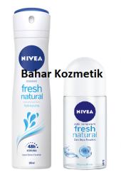 Nivea Fresh Natural Sprey 150Ml Kadın + Roll-On 50 Ml