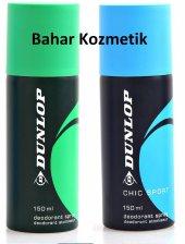 Dunlop Chic Sport (Mavi) 150 Ml + Yeşil Erkek...