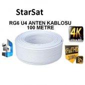 Anten Kablosu Starsat RG6/U 100 Metre Bakır