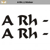 ARh (-) Sticker