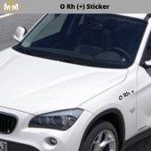 0 Rh (+) Sticker