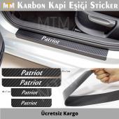 Jeep Patriot Karbon Kapı Eşiği Sticker (4 Adet)