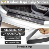 Hyundai İ30 Karbon Kapı Eşiği Sticker (4 Adet)