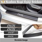 Hyundai Excel Karbon Kapı Eşiği Sticker (4...