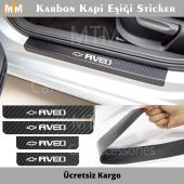 Chevrolet Aveo Karbon Kapı Eşiği Sticker (4...