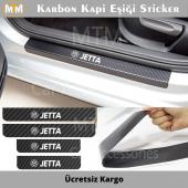 Volkswagen Jetta Karbon Kapı Eşiği Sticker (4 Adet)