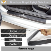 Fiat Doblo Karbon Kapı Eşiği Sticker (4 Adet)