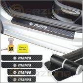 Fiat Marea Karbon Kapı Eşiği Sticker (4 Adet)