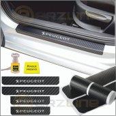 Peugeot Karbon Kapı Eşiği Sticker (4 Adet)