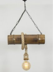 Lambamboo Bambu Avize Tekli Rustik